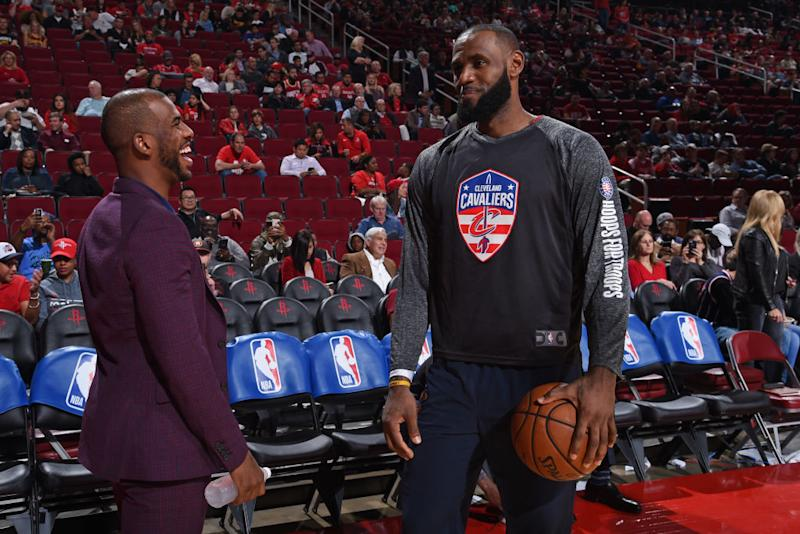 e4f3546d7ac6 LeBron James already has Chris Paul recruiting him  report