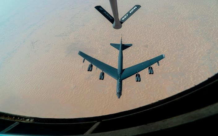B-52H Stratofortress from Minot Air Force Base, North Dakota seen in the Middle East - US Air Force