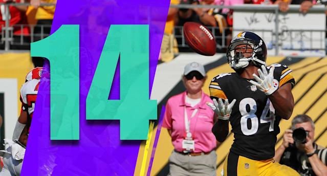 <p>Signs of life? Pittsburgh at Cincinnati seems like a good test of whether the Steelers can steer out of the skid or if the win over a 1-4 Falcons team was a mirage. (Antonio Brown) </p>