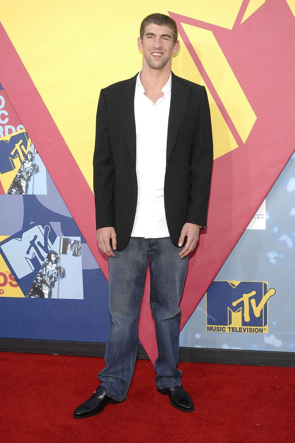 <p>By 2008, Michael Phelps was firmly cemented as a pop culture icon, and regularly hit the red carpet at award shows — like the MTV Video Music Awards. </p>