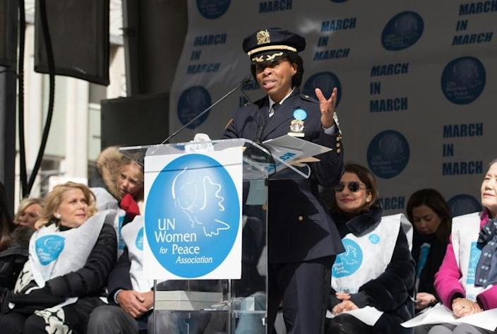 Juanita Holmes, seen here in 2016, has become the first woman to hold the post of chief of patrol at the New York Police Department