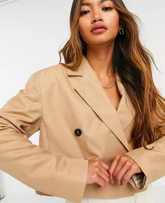 <p><span>ASOS Design Cropped Suit Jacket</span> ($61, originally $76)</p>