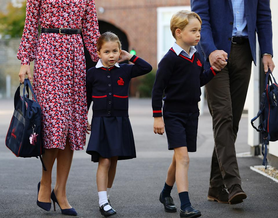 <p>But we couldn't help but spot her sweet habit of playing with her ponytail. (Aaron Chown/PA Wire</p>