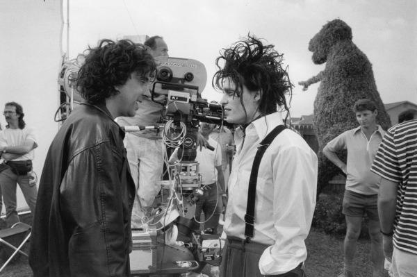 """<p>While Edward Scissorhands's personality was inspired by Caroline Thompson's dog, his look came from a sketch director Tim Burton first drew in high school. """"You look at that drawing, then you look at Tim, then you look at Johnny [in costume], and they were almost indistinguishable,"""" observed production designer Bo Welch with a laugh. """"It was such a personal manifestation of Tim's world, life, and aesthetic, it was hysterical that way."""" </p>"""