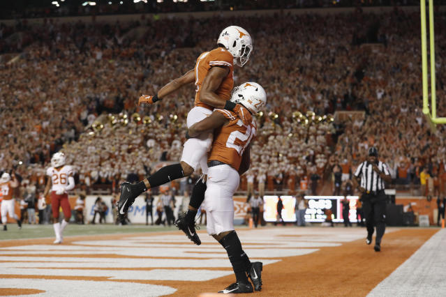 Texas just needs to beat Kansas on Friday to play for the Big 12. (Getty)lege fo
