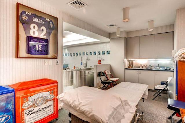 Need to recover after a long day of sports? This training room should do the trick. (Zillow)