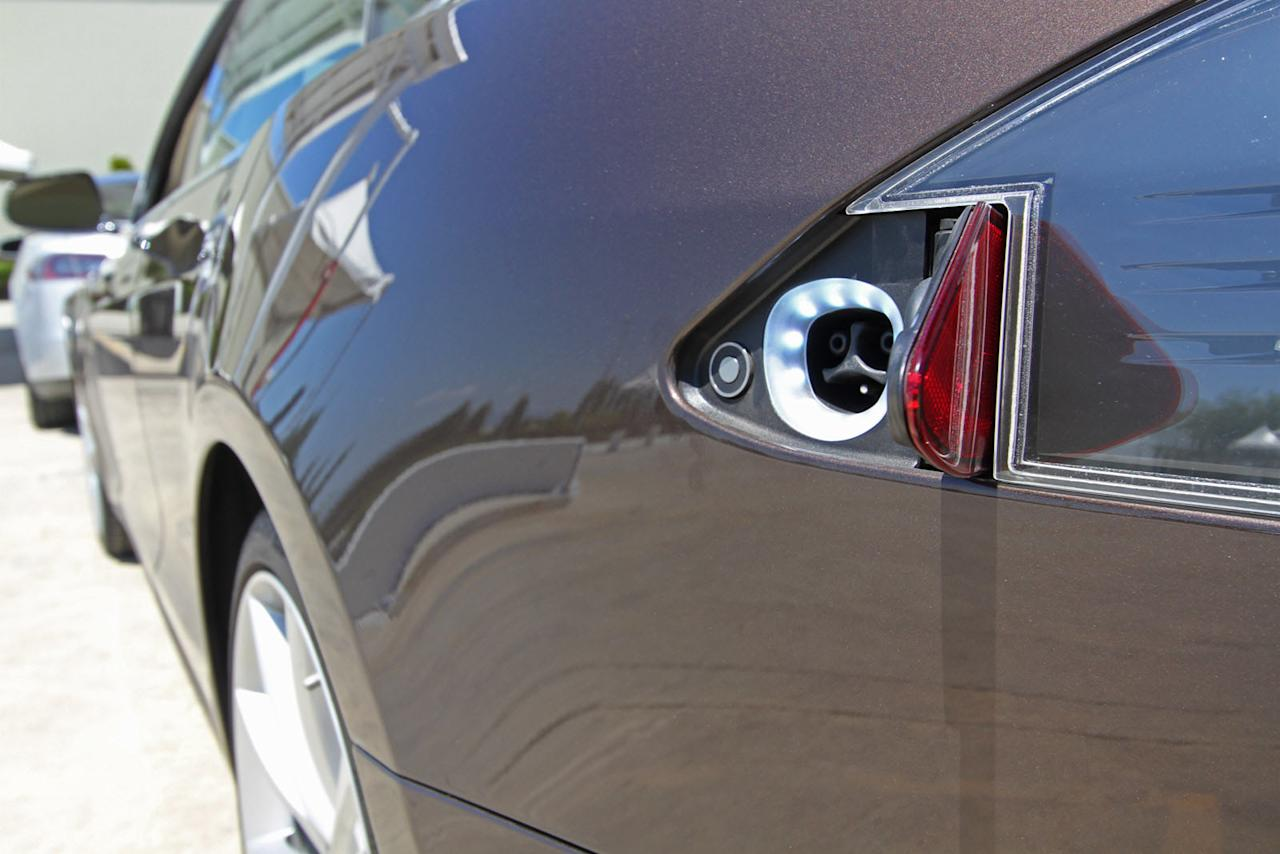 The advanced battery pack gives the plug-in Model S impressive range — up to 285 miles in  the edition launching today.