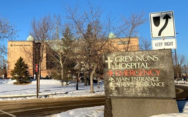 Edmonton's Grey Nuns Community Hospital is operated by Covenant Health. (Josee St-Onge/CBC - image credit)