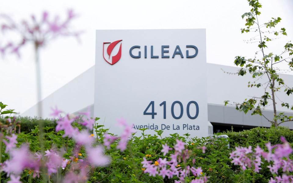 Gilead Sciences Inc pharmaceutical company is seen after they announced a Phase 3 Trial of the investigational antiviral drug Remdesivir - Reuters