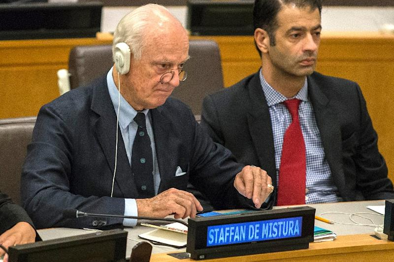 UN's envoy on Syria Staffan de Mistura, pictured on September 28, 2015, proposed peace talks