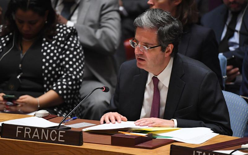 France's Ambassador to the United Nations Francois Delattre  - Credit: Timothy Clary/AFP