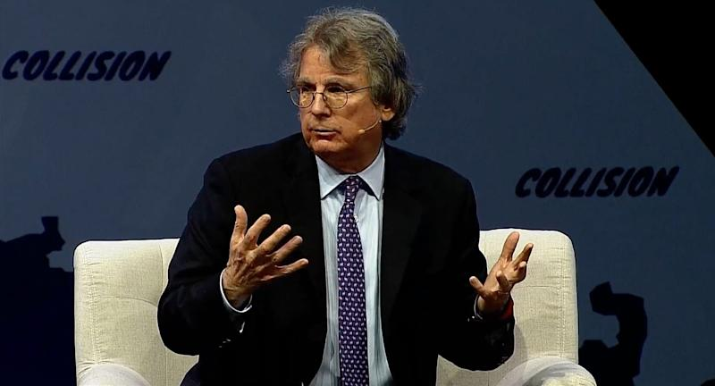 Early Facebook investor Roger McNamee at the annual Collision tech conference in Toronto on Thursday. Source: Collision
