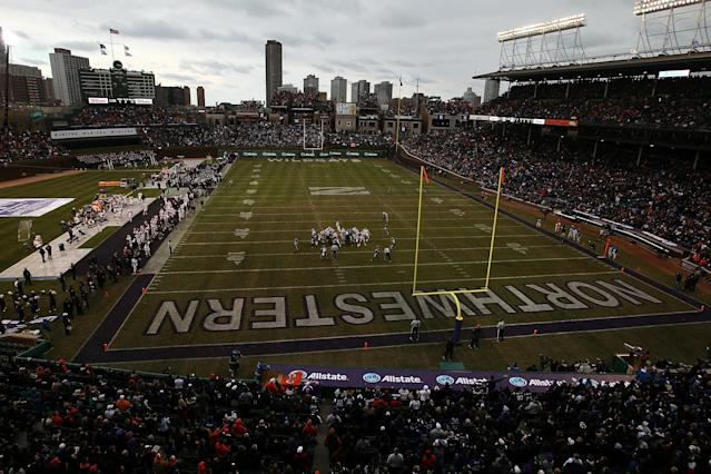 The most recent college football game played at Wrigley Field was Northwestern vs. Illinois on November 20, 2010. (Photo by Jonathan Daniel/Getty Images)