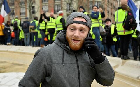 Maxime Nicolle, French activist and one of the leader of the 'Gilets Jaunes' (Yellow Vests) attends at the 'Act XII' demonstration  - Credit:  Anadolu/Anadolu Agency