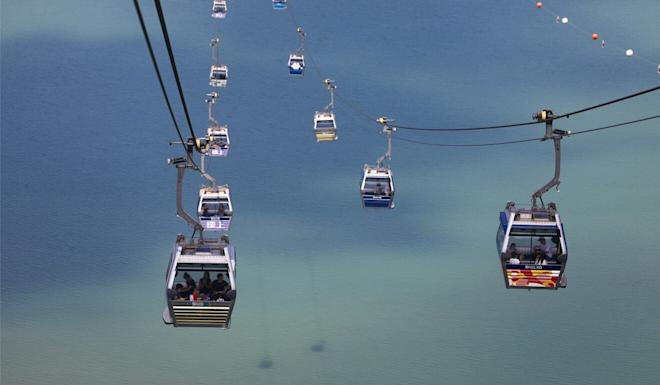 All 108 cable cars on the route were in operation the company said. Photo: Dickson Lee