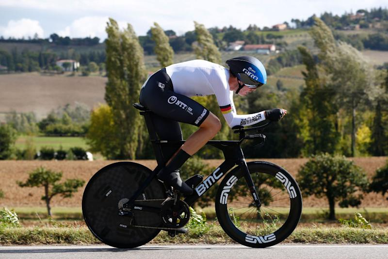 IMOLA ITALY SEPTEMBER 25 Max Walscheid of Germany during the 93rd UCI Road World Championships 2020 Men Elite Individual Time Trial a 317km race from Imola to Imola Autodromo Enzo e Dino Ferrari ITT ImolaEr2020 Imola2020 on September 25 2020 in Imola Italy Photo by Bas CzerwinskiGetty Images