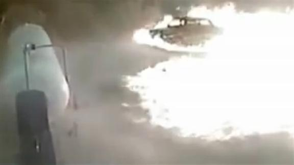 Russian man hailed a hero after running into propane cloud to prevent huge gas explosion at petrol station