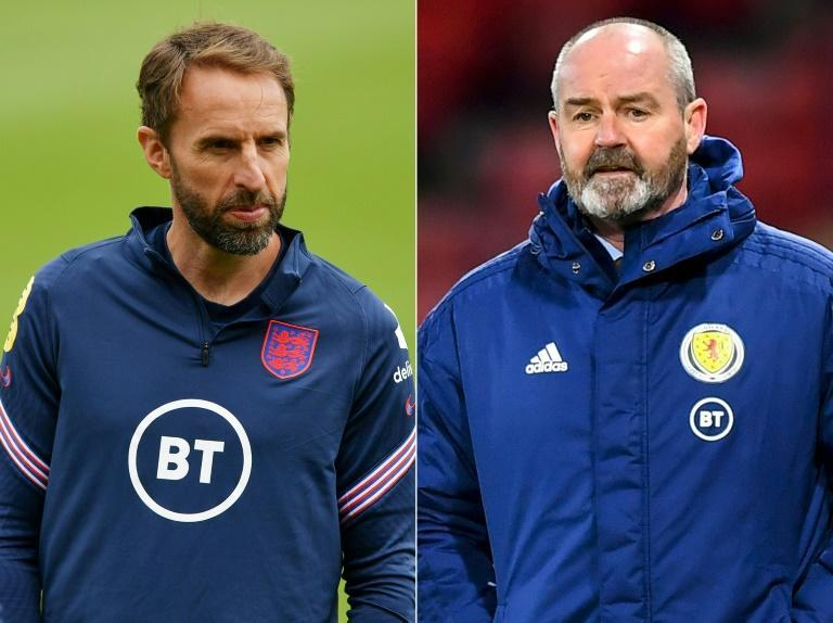 England manager Gareth Southgate (left) can lead his side into the Euro 2020 last 16 with victory over Scotland