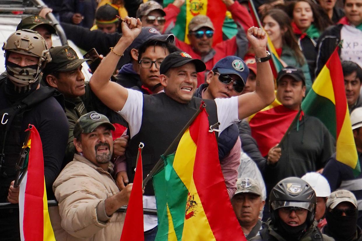 Luis Fernando Camacho, right-wing opposition leader and president of the Civic Committee for Santa Cruz, helped drive Evo Morales from office and is now wielding influence over Bolivia's transitional government. (Photo: Javier Mamani via Getty Images)