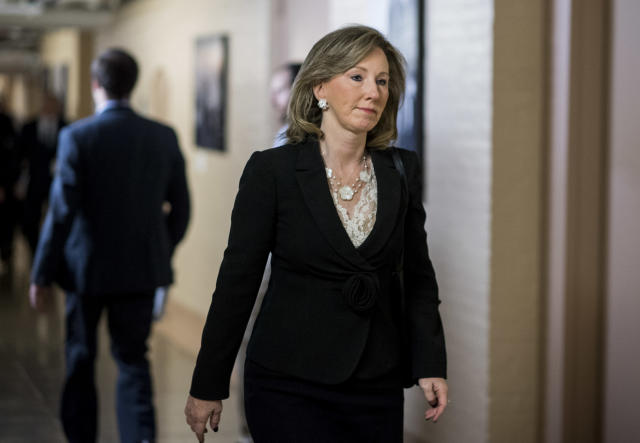 Rep. Barbara Comstock, R-Va., leaves the House Republican Conference meeting in the basement of the Capitol on Oct. 24, 2017. (Photo: Bill Clark/CQ Roll Call)