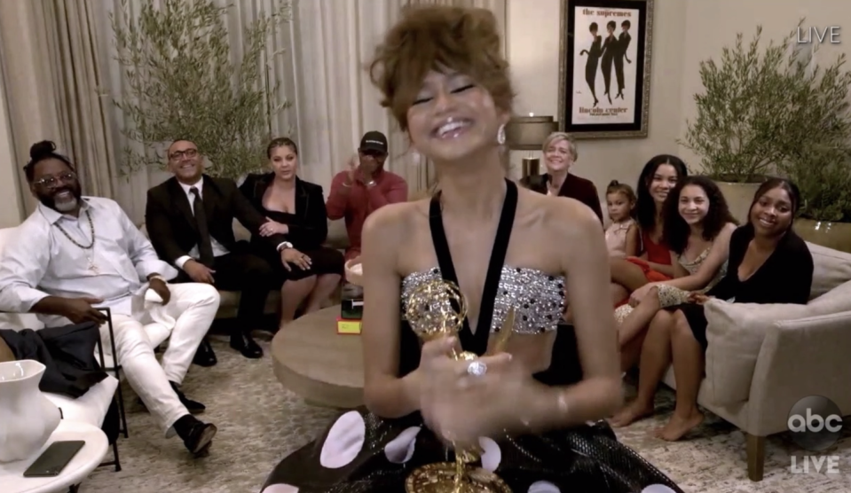 Zendaya Made Emmys History and Thanked Protesters in Her Speech: 'There Is Hope in the Young People'
