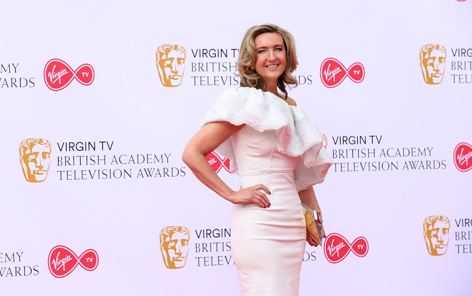 Victoria Derbyshire attending the Virgin TV British Academy Television Awards 2018 held at the Royal Festival Hall, Southbank Centre, London. PRESS ASSOCIATION Photo. Picture date: Sunday May 13, 2018. See PA story SHOWBIZ Bafta. Photo credit should read: Isabel Infantes/PA Wire (Photo by Isabel Infantes/PA Images via Getty Images)