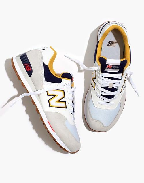 <p>These <span>New Balance Suede 574 Sneakers</span> ($80) pop with a nice hue.</p>