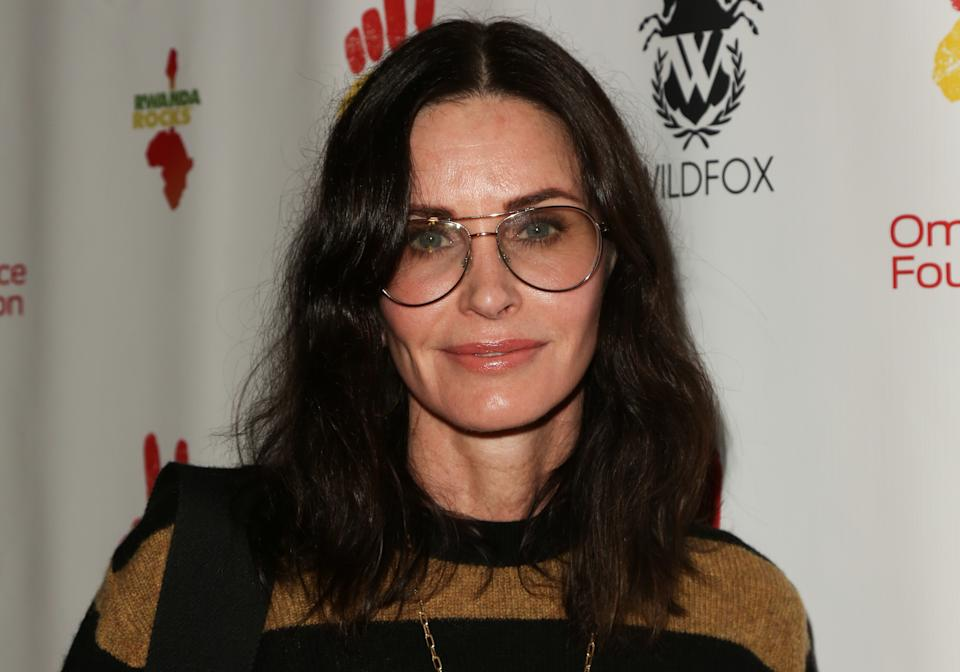 """WEST HOLLYWOOD, CALIFORNIA - NOVEMBER 04: Courteney Cox attends the 2nd Annual Gala """"Rwanda Rocks"""" Charity Event at Vibrato Jazz Grill on November 04, 2019 in West Hollywood, California. (Photo by Paul Archuleta/FilmMagic)"""