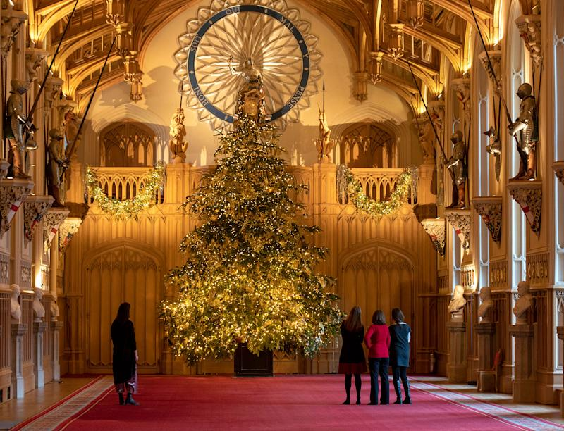 The 20-Ft Royal Christmas Tree at Windsor Castle Has the Most Perfect Detail (Fit for a Queen!)