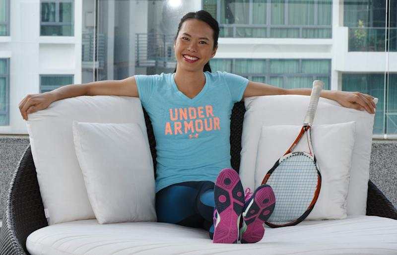 Singapore tennis player Sarah Pang at Novena Oasia Hotel. (PHOTO: Zainal Yahya/Yahoo News Singapore)