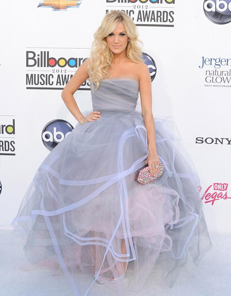 LAS VEGAS, NV - MAY 20:  Singer Carrie Underwood arrives at the 2012 Billboard Music Awards held at the MGM Grand Garden Arena on May 20, 2012 in Las Vegas, Nevada.  (Photo by Jon Kopaloff/FilmMagic)
