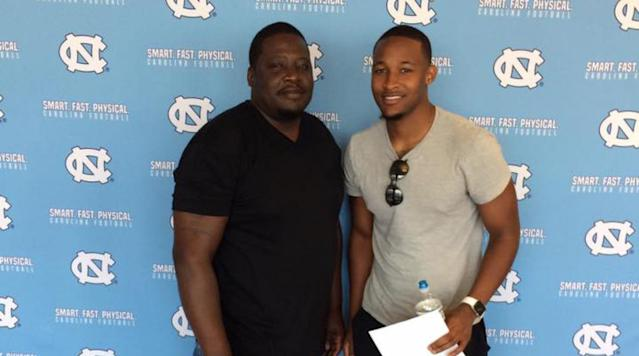 Former LSU quarterback Brandon Harris is transferring to North Carolina, he announced Sunday.