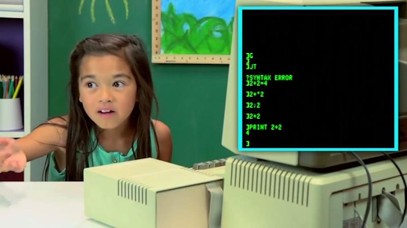 WATCH: Kids React to Old Computers