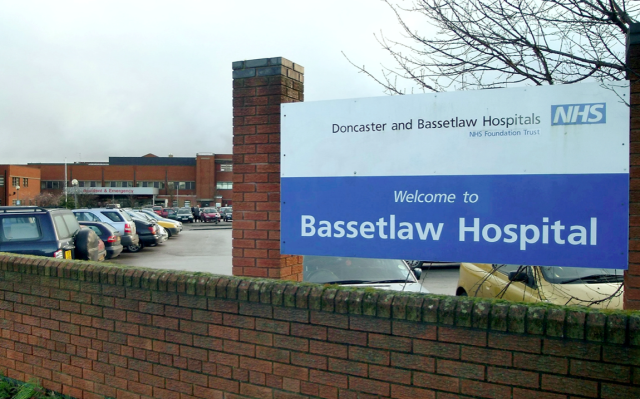 The baby died a few hours after arriving into the world at Bassetlaw District General Hospital. (SWNS)