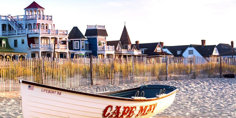 """<p><strong>Best for Victorian Charm</strong></p><p>Located at the tip of the Garden State is the charming town of <a href=""""https://www.bestproducts.com/fun-things-to-do/g2854/best-new-jersey-beaches-boardwalks/"""" rel=""""nofollow noopener"""" target=""""_blank"""" data-ylk=""""slk:Cape May"""" class=""""link rapid-noclick-resp"""">Cape May</a>. Declared a National Historic Landmark in 1976, this Jersey Shore jewel is famous for its Victorian homes (many of which now house romantic inns and bed and breakfasts), its gas lamp-lined streets, and horse-drawn carriages. The beach is pretty sweet, too.</p><p><strong><em>Where to Stay: </em></strong><a href=""""https://go.redirectingat.com?id=74968X1596630&url=https%3A%2F%2Fwww.tripadvisor.com%2FHotel_Review-g46341-d92337-Reviews-Congress_Hall-Cape_May_Cape_May_County_New_Jersey.html&sref=https%3A%2F%2Fwww.countryliving.com%2Flife%2Fg37186621%2Fbest-places-to-experience-and-visit-in-the-usa%2F"""" rel=""""nofollow noopener"""" target=""""_blank"""" data-ylk=""""slk:Congress Hall"""" class=""""link rapid-noclick-resp"""">Congress Hall</a></p>"""