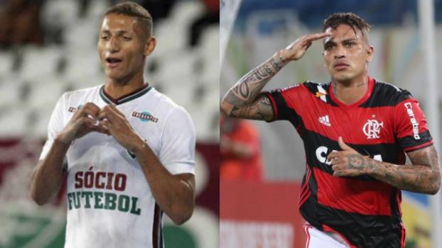 Artilheiros, Guerrero e Richarlison travam disputa particular no Fla-Flu