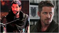 <p>So the guy on the left is Tom Ellis, and he played Robin Hood for one episode in season 2. Turns out, he couldn't return due to scheduling conflicts, which is why Sean Maguire stepped into the role. </p>