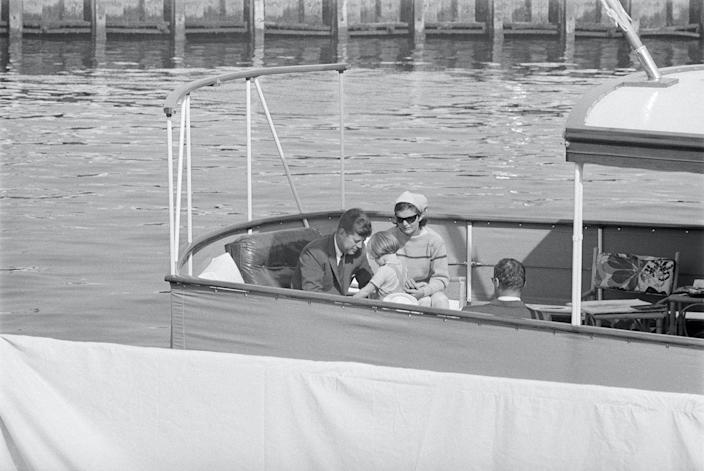 <p>The Kennedys embark on a family cruise of Narragansett Bay on the yacht <em>Honey Fitz</em>.</p>