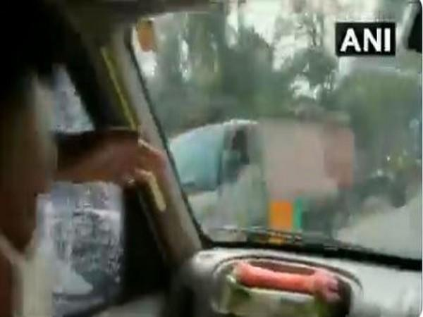 Visuals from the attack on BJP national president's convoy in Diamond Harbour. (File Photo)