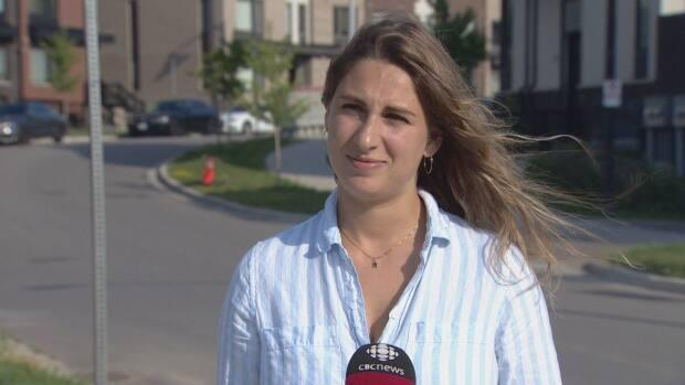 Jenya Farris, who lives in the Stanley Greene neighbourhood, is one of many community members calling for safer road infrastructure in the area. (CBC - image credit)