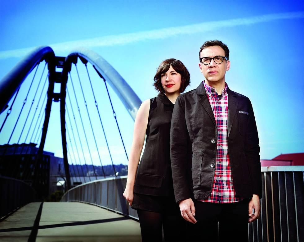 "Carrie Brownstein and Fred Armisen in Season 3 of IFC's ""Portlandia."""
