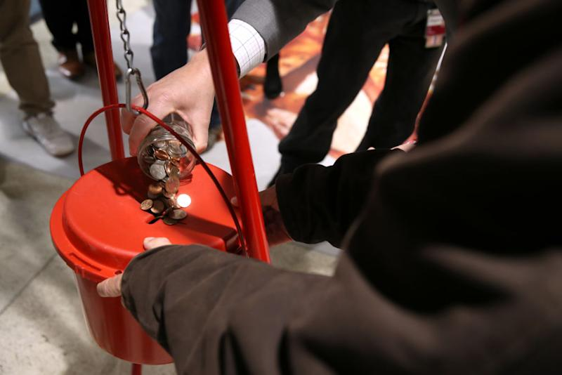 The coins were discovered inside a Salvation Army Red Kettle. Image: Getty