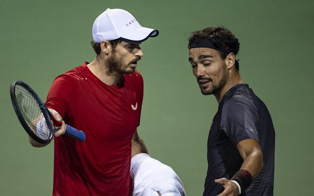 Andy Murray was unhappy with Fabio Fognini's behaviour during their match in Shanghai - Getty Images AsiaPac