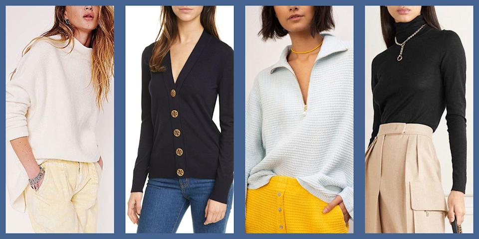 """<p>Don't get us wrong, it is the height of summer and we are lapping up every minute of it. But we can't help but start to think about one of the best parts of <a href=""""https://www.townandcountrymag.com/style/fashion-trends/g22549283/stylish-fall-coats/"""" rel=""""nofollow noopener"""" target=""""_blank"""" data-ylk=""""slk:shopping for the new season"""" class=""""link rapid-noclick-resp"""">shopping for the new season</a>: fall sweaters. We've got our eyes on a number of styles for fall—varsity-style V-necks, classic wool knits, at-home loungewear and half-zips, and even embellished <a href=""""https://www.townandcountrymag.com/style/fashion-trends/g12096491/best-fall-wedding-guest-dresses/"""" rel=""""nofollow noopener"""" target=""""_blank"""" data-ylk=""""slk:&quot;special occasion&quot;"""" class=""""link rapid-noclick-resp"""">""""special occasion""""</a> sweaters with intricate details and sensual necklines. The options are simply too good to not swoon over. Here's what we are shopping now. </p>"""