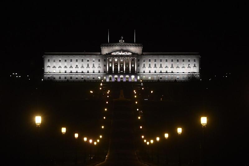 Stormont in Belfast, where powersharing talks in Northern Ireland ended in acrimony: PA