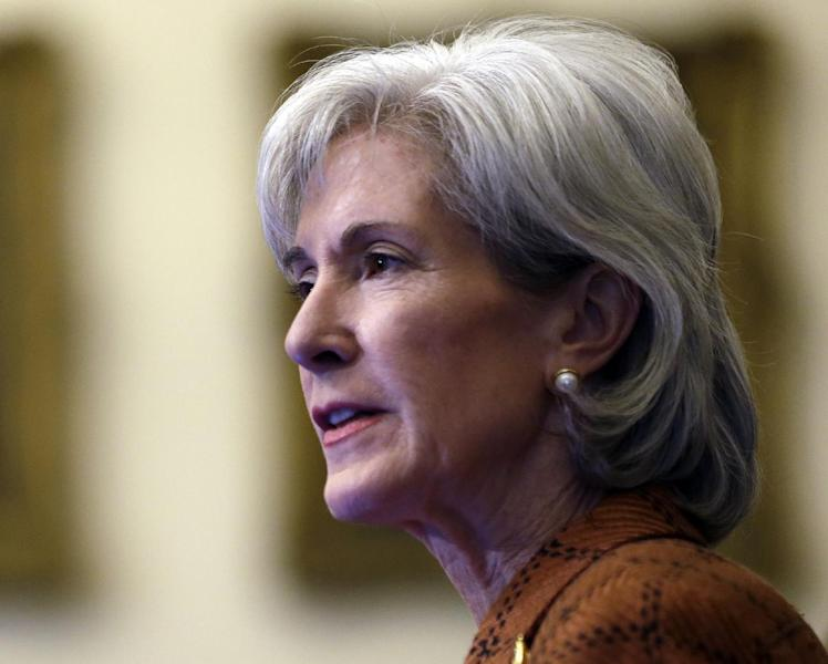 FILE - In this Feb. 20, 2013 file photo, Human Services Secretary Kathleen Sebelius speaks in Philadelphia. President Barack Obama's budget next week will steer clear of major cuts to Medicaid, including tens of billions the administration proposed only last year. The White House is holding harmless the federal-state health care program for low-income people while wooing financially skittish states to expand Medicaid coverage to millions now uninsured. (AP Photo/Matt Rourke, File)