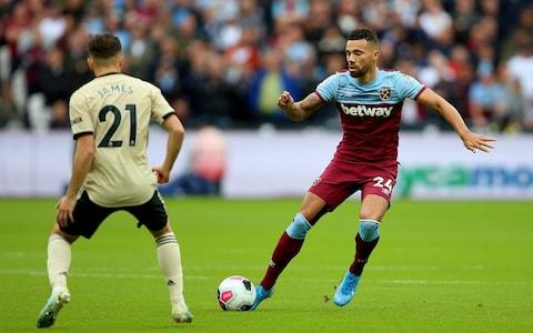 West Ham United's Ryan Fredericks (right) in action during the Premier League match at London Stadium. PA Photo. Picture date: Sunday September 22, 2019 - Credit: PA