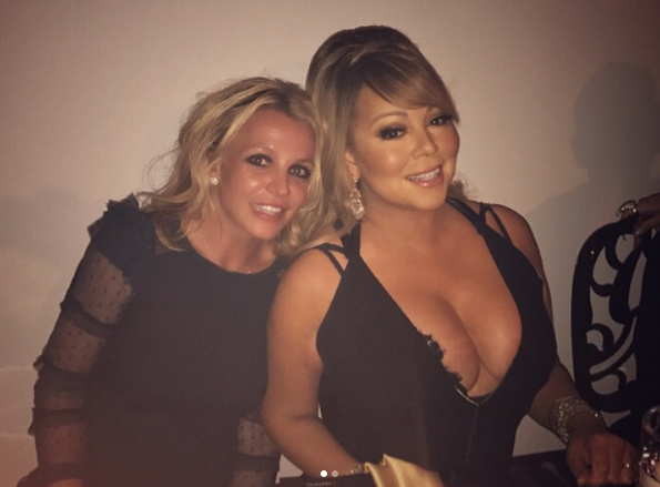 "<p>Pop star overload! ""You never know who you're going to meet at dinner parties!"" the singer excitedly captioned this pic with the one and only Mariah Carey, who she met up with at a gathering of a mutual friend. ""Great night! So much fun!"" (Photo: <a href=""https://www.instagram.com/p/BZRrOWVlD8F/?taken-by=britneyspears"" rel=""nofollow noopener"" target=""_blank"" data-ylk=""slk:Britney Spears via Instgaram"" class=""link rapid-noclick-resp"">Britney Spears via Instgaram</a>) </p>"