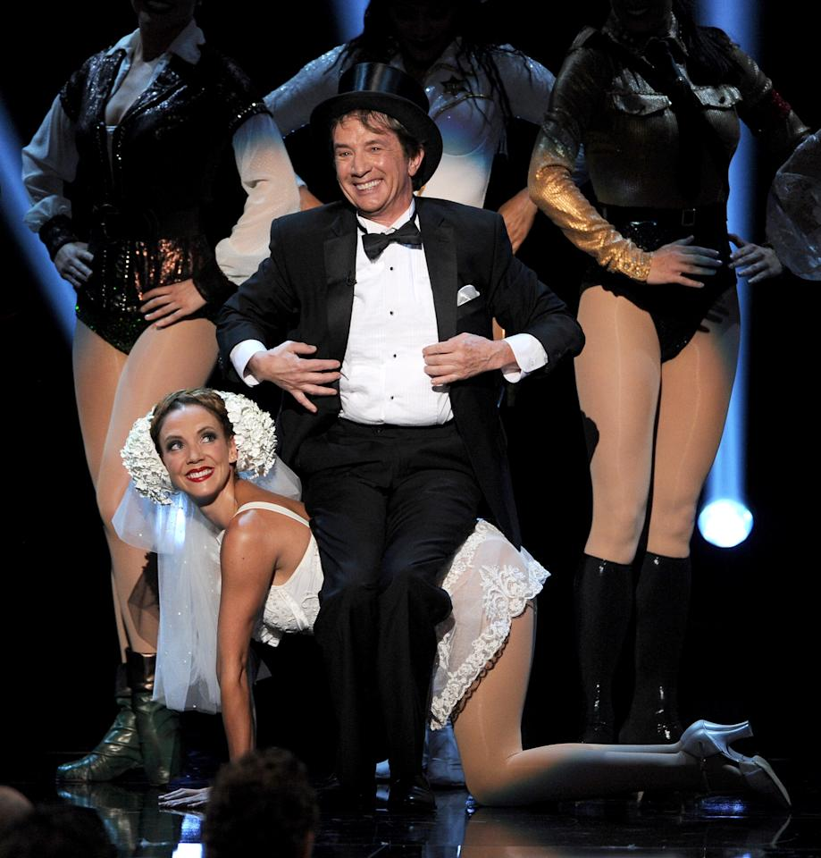 HOLLYWOOD, CA - JUNE 06:  Comedian Martin Short performs onstage during the 41st AFI Life Achievement Award Honoring Mel Brooks at Dolby Theatre on June 6, 2013 in Hollywood, California. Special Broadcast will air Saturday, June 15 at 9:00 P.M. ET/PT on TNT and Wednesday, July 24 on TCM as part of an All-Night Tribute to Brooks.  (Photo by Kevin Winter/Getty Images)