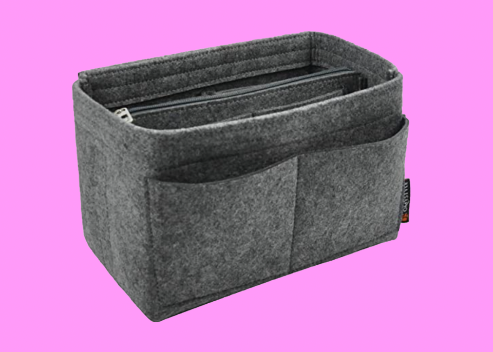 This heathered grey organizer completes your bag. (Photo: Amazon)